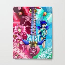 Sailor Mew Guitar #9 - Sailor Chibi Moon & Mew Minto Metal Print