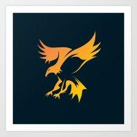 phoenix Art Prints featuring Phoenix by Dale J Cheetham