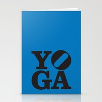 yoga Stationery Cards featuring YoGA by CGould