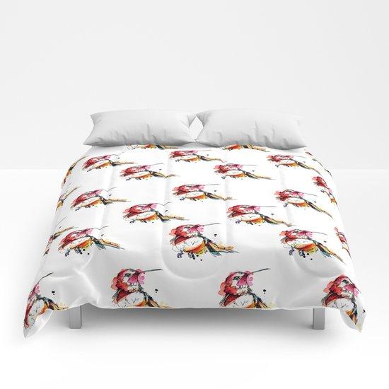 Crimson Hummer Comforters