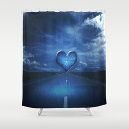Trail to the heart Shower Curtain