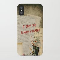 dramatical murder iPhone & iPod Cases featuring Murder Board by Sybille Sterk