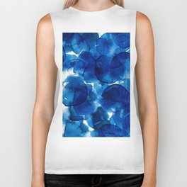 Amazing watercolor background with colorful abstract circles Biker Tank