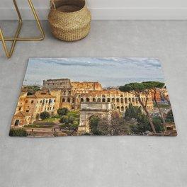 Roman Coliseum, Rome, Italy. Rug