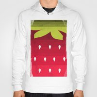 strawberry Hoodies featuring Strawberry by Kakel