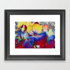 Abstract Flowes 01 Framed Art Print