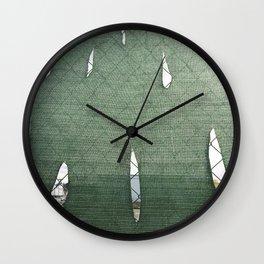 Fence Study II Wall Clock
