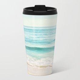 Ocean Seascape Photography, Aqua Beach Sea Landscape Travel Mug