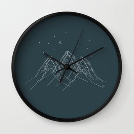 At your fingertips Wall Clock