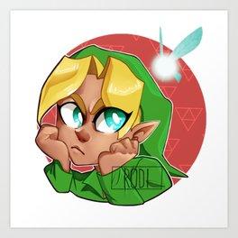 Link - Ocarina of Time Art Print