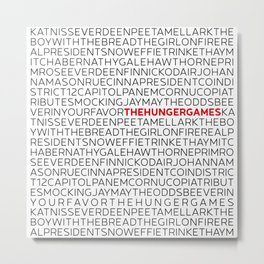Type: The HungerGames Metal Print