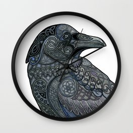 Celtic Raven Wall Clock