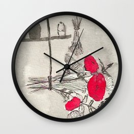 Red Poison Wall Clock