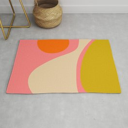abstract composition modern blush pink Rug
