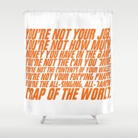 wallet Shower Curtains featuring Fight Club by elvisbr