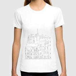 Edinburgh Castle in one continuous line T-shirt