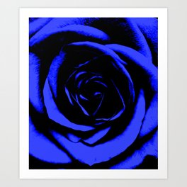 Blue Rose : Pretty Flowers Art Print