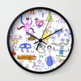 funny folk Wall Clock