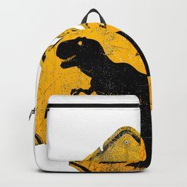T-Rex Crossing Sign Backpack