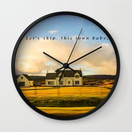 Let's skip this town baby Wall Clock