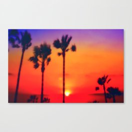 SunSet LA Canvas Print