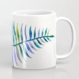 Indigo Palm Leaf Coffee Mug