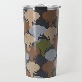 Elephant Camouflage Pattern Travel Mug