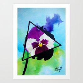 Broody Pansy Art Print