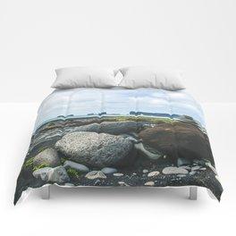 Coastal Stacks Comforters