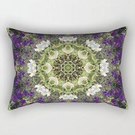 Icy White and Rich Violet Petunias Kaleidoscope Rectangular Pillow