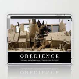 Obedience: Inspirational Quote and Motivational Poster Laptop & iPad Skin