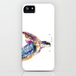 Hawaiian Sea Turtle, swimming turtle bathroom design iPhone Case