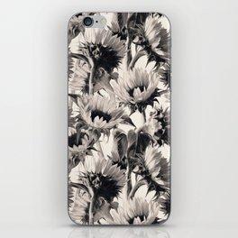 Sunflowers in Soft Sepia iPhone Skin