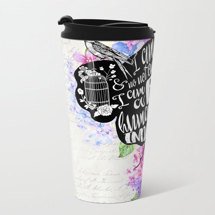 Jane Eyre - No Bird Metal Travel Mug