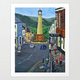 Tredegar Town Clock Art Print