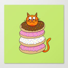 More Cats & Donuts Canvas Print