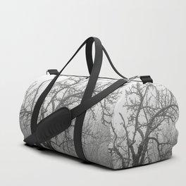 Black and white naked tree Duffle Bag