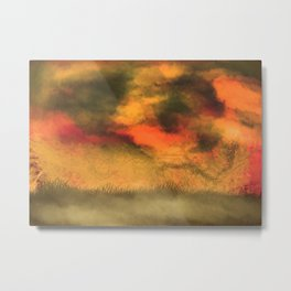 Stormy print Metal Print