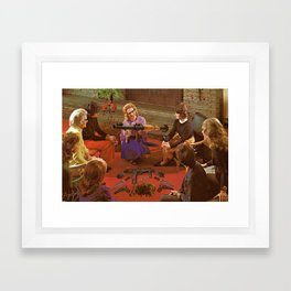 Aunt Daisy's Tea Party Framed Art Print