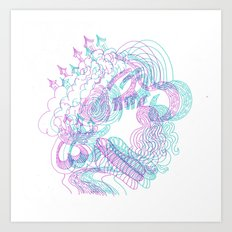 dreams in color  Art Print
