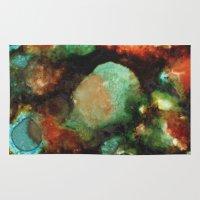 malachite Area & Throw Rugs featuring Geode II, Malachite by Titania Designs