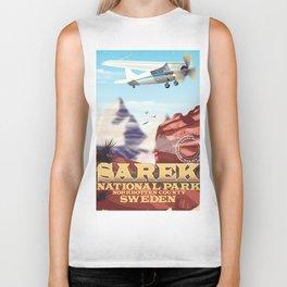 Sarek National park Sweden vintage poster Biker Tank