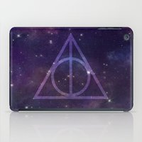 deathly hallows iPad Cases featuring Deathly Hallows in Space by Hannah Ison