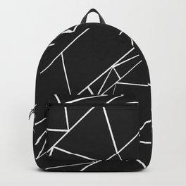 Hand drawn geometrical black white triangles Backpack
