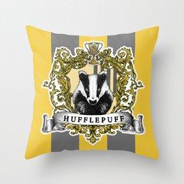 Hufflepuff Color Throw Pillow