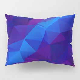 Abstract digital art polygon triangles Pillow Sham