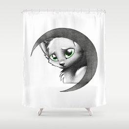 Cat & Moon Shower Curtain