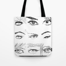 Many Eyes Tote Bag