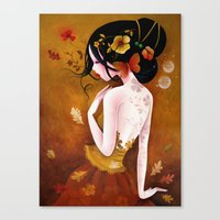 copper Canvas Prints featuring Copper by Sybile Art