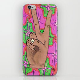 Peace w/Flowers iPhone Skin